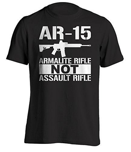 Bang Bang Apparel Men's AR-15 Armalite Rifle T-Shirt (X-Large, Black)