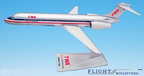 TWA/AA Trans (01-02) 717-200 Airplane Miniature Model Plastic Snap Fit 1:200 Part# ABO-71720H-005
