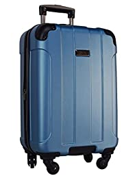 """Kenneth Cole Reaction Central Park 20"""" 4-Wheel Upright Expandable Spinner Carry On (Ocean Blue)"""