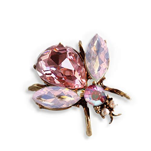 Queen Bee, Pink Cancer Pin, Breast Cancer Awareness Jewelry, Pink Bee, Bee Brooch, Honeybee Pin, Bee Jewelry, Queen Bee Pin, P5280 (Pink Bee)
