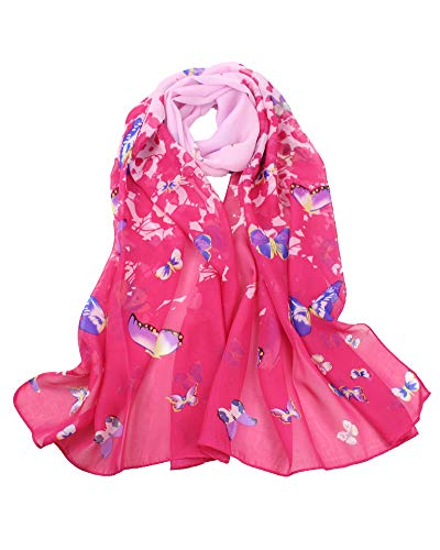 Women's Polyester Chiffon Scarf Neck Fashionable Printing Floral Country Style Lightweight scarves for Ladies and Girls (011) (Scarf Neck Warmer)