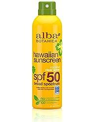 Alba Botanica Sunscreen Spray with Coconut Oil, SPF 50, 6oz