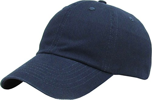 KB-LOW NAV Classic Cotton Dad Hat Adjustable Plain Cap. Polo Style Low Profile (Unstructured) (Classic) Navy Adjustable