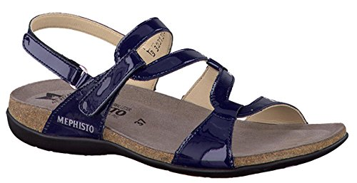 Mephisto Adelie Womens Sandal EU Size 39 Navy Patent Leather