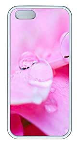 iPhone 5 5S Case Pink Crystal Drops TPU Custom iPhone 5 5S Case Cover White