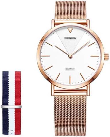 女性ファッションローズゴールドウォッチステンレスクラシックカジュアルウォッチミラネアメッシュバンド、防水カジュアルアナログクォーツドレス腕時計 (サイズ さいず : S33mm)
