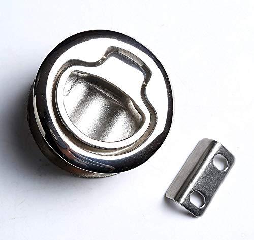 (BAYSUN Durable Flush Boat Hatch Stainless Steel Flush Pull Latch Lift Ring Handle Marine Locker)