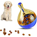Tumbler Dog Toys - Food Dispensing Toy for Cats & Dog | Interactive Chew Non-Toxic Exercise Thinking Improve Intelligence Toy Ball for Pets Puppies Kitty Blue Color (Big Size)
