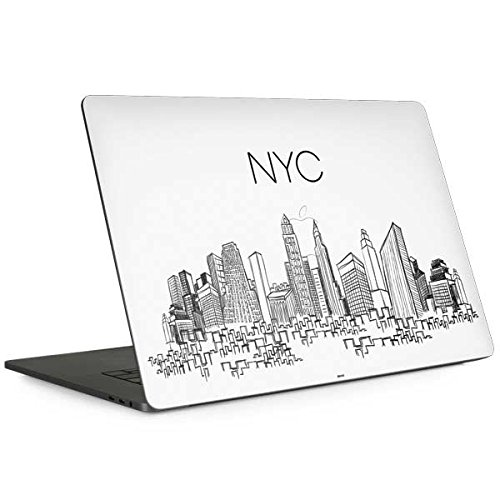 Skinit Illustration Art MacBook Pro 13-inch with Touch Bar (2016-18) Skin - NYC Sketchy Cityscape Design - Ultra Thin, Lightweight Vinyl Decal Protection