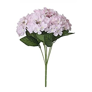 FYYDNZA 7 Fork Artificial Flower Hydrangea Silk Flower Real Touch Fake Flower Home Wedding Bridesmaid Bridal Daily Home Decor Decoration,6 78