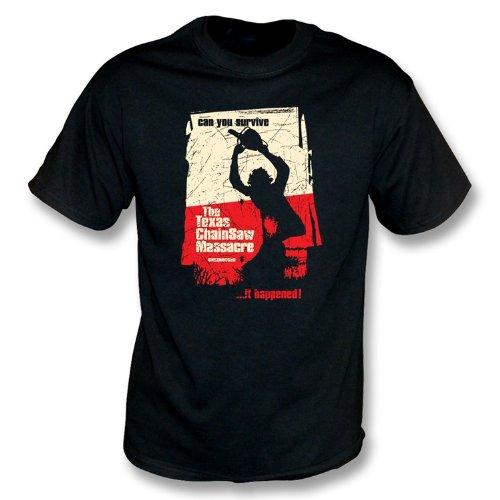 TshirtGrill Das Texas-Kettensägen-Massaker-T-Shirt, Farbe- Schwarzes