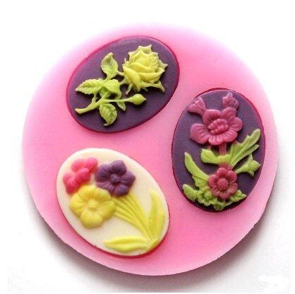 Molde de silicona para hacer pasta de plantas Color de rosa para pasta de molde de la torta moldes de repostería: Amazon.es: Hogar