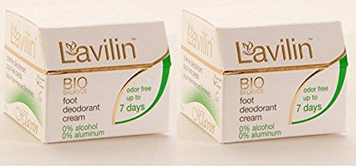 (Lavilin Foot Care Award Winning Foot Deodorant Cream, 12.5 Grams (2 Pack))
