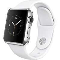 Apple Smart Watch Sport 38mm - Stainless Steel/White (Certified Refurbished) from Apple Computer