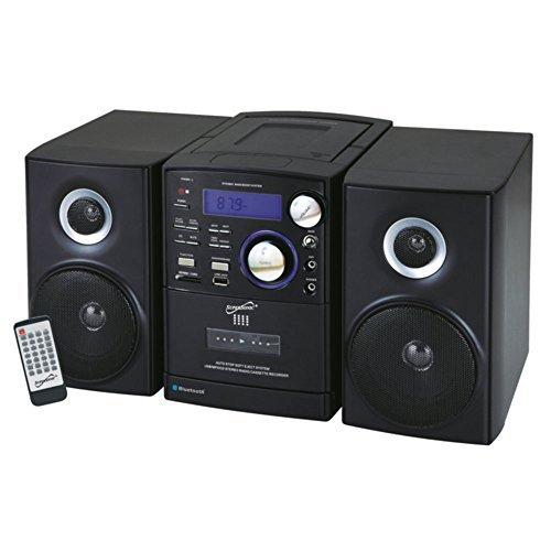 Supersonic SC-807 Bluetooth CD Player Shelf Stereo Black Con