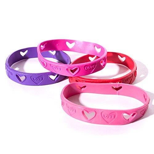Valentine Pencil Love (24 Heart Cut Out Love Bracelets - Valentine Party Favors)