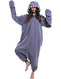 Adult Shark Onesie Cosplay Costume Onepiece Sleepwear Halloween Pajamas ea2785ef7