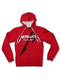 """Bravado Adult Metallica """"Shrouded"""" Red Zip Hoodie Sweatshirt"""
