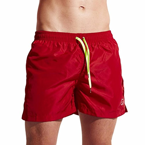 Funic Men's Swimming Trunks Quick Dry Shorts Beach Swimwear With Pocket and Drawstring