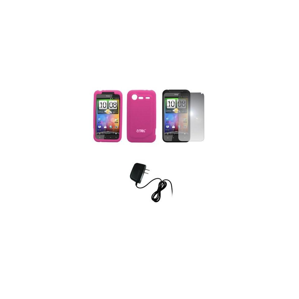 EMPIRE Hot Pink Silicone Skin Case Cover + Mirror Screen