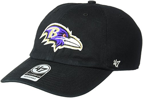 NFL Baltimore Ravens '47 Clean Up Adjustable Hat, Black, One Size