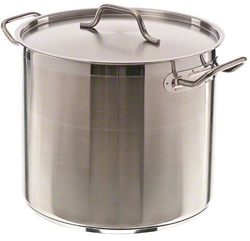 20 Qt Stainless Steel Stock Pot w/Cover ()