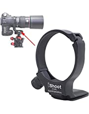 Tripod Mount Ring, iShoot Lens Collar Support Compatible with Canon EF 100mm f/2.8L Macro IS USM Lens (Replace Canon Tripod Mount Ring D), Built-in ARCA Type Camera Quick Release Plate for Tripod Head
