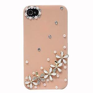HOR Zircon Five Daisy Caso Patrón duro para el iPhone 4/4S