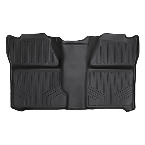 2012 2nd Row Floor Mats - SMARTLINER Floor Mats 2nd Row Liner Black for 2007-2013 Silverado/Sierra 1500 Crew Cab - 2007-2014 Silverado/Sierra 2500/3500 HD Crew Cab