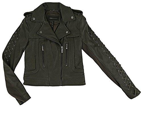 BCBG Max Azria Isa Hunter Green Leather Jacket (XXS) ()