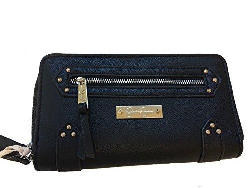 Jessica Simpson Zuri Wallet - Double Zip Around - Black - 8
