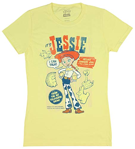 Disney Pixar Juniors' Toy Story Shirt Jessie Retro Poster Graphic T-Shirt (Medium) (Jessie Toy Story Clothing)