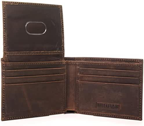 Passcase Bifold Leather Wallet with RFID/NFC Blocking by Mutbak