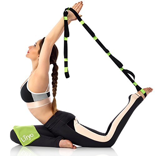 Liryo Yoga Strap For Stretching With Loops Non Elastic