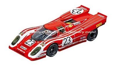 - Carrera USA 20027569 Porsche 917K Salzburg No.23 1970 Evolution Analog Slot Car Racing Vehicle 1:32 Scale, Red
