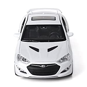 Hyundai 2012 Genesis Coupe1:38 Clamber up mini Car-White by pinobnd