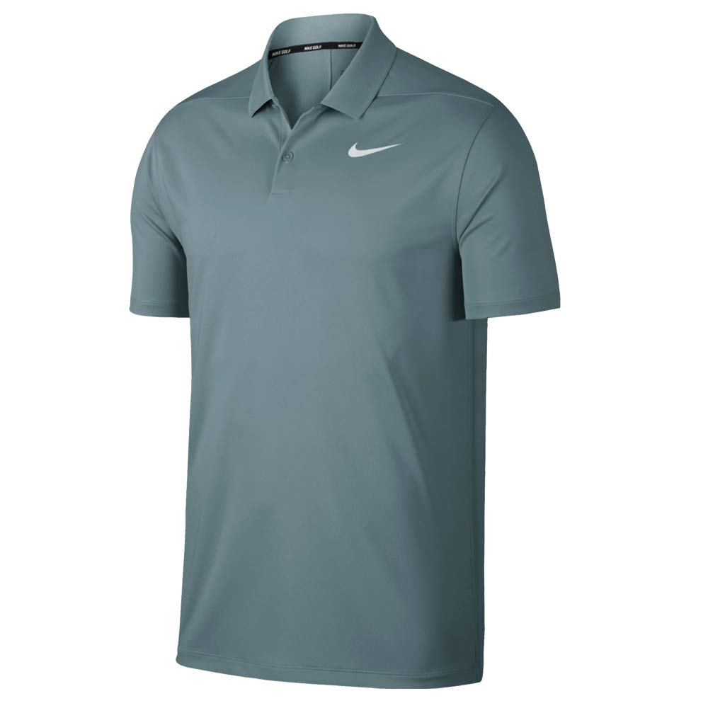 Nike Dri Fit Victory Solid LC Golf Polo 2019 Aviator Gray/White Small