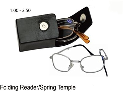 Viper Cloth (Reading Folding Glasses + Spring Temple + Free Cleaning Cloth Cvst9927rcv (+175, SILVER))
