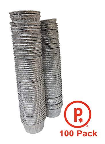 pinkada Disposable Aluminum Foil Ramekins, Cupcake Pans Size 4 oz. (100)