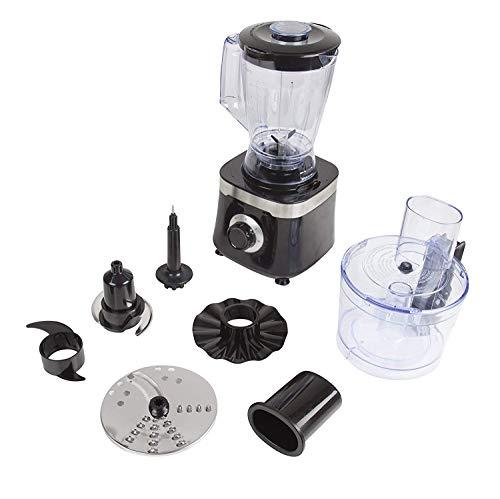 Tower T18004 Food Processor with 1.4 Litre Blending Jug and 1.5 Litre Food Processor Bowl, 600 W, Black