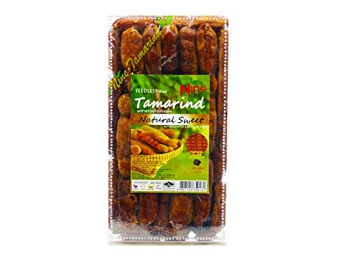 Nine Tamarind Seedless Dried Tamarind Natural Sweet (1 Pack (150 (Sugar Added Fruitcake)