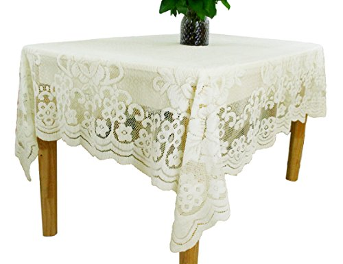 Oblong Lace Tablecloth (Kitchen Reusable White Lace Tablecloths Rectangle Size 60