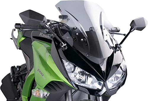 17-18 KAWASAKI ZX1000ABS: Puig Racing Windscreen (3mm) (Smoke)