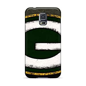 MarcClements Samsung Galaxy S5 High Quality Hard Cell-phone Case Support Personal Customs HD Green Bay Packers Pattern [DVM27663QoNT]