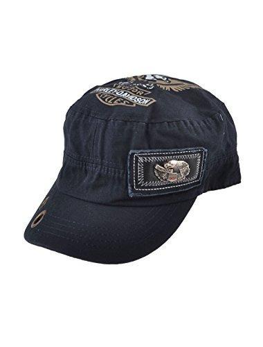 打ち負かす舌な溶けたuxcell 釣り サンバイザー 帽子 ダークブルー 55-64cm 調節可能な設計 イーグルのパターン