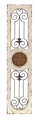 Deco 79 Wood Metal Wall Panel, 58 by 12-Inch (Wood Metal Wall Decor)
