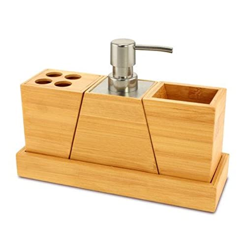 KOVOT Elegant And Stylish Bamboo Bathroom Set