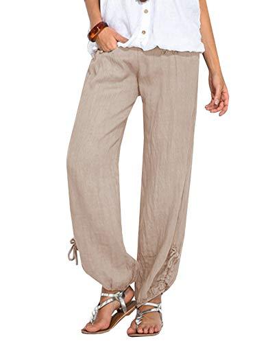 Ybenlover Donna Ybenlover Beige Pantaloni Pantaloni qUwO4FCB