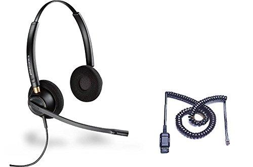 - Cisco Certified Plantronics HW520 EncorePro 520 Noise Canceling Direct Connect Compatible Headset Bundle