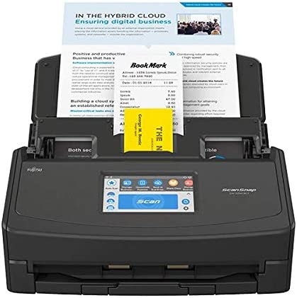 Fujitsu scansnap ix1500 document scanner black – Best Printers For Double Sided Scanning
